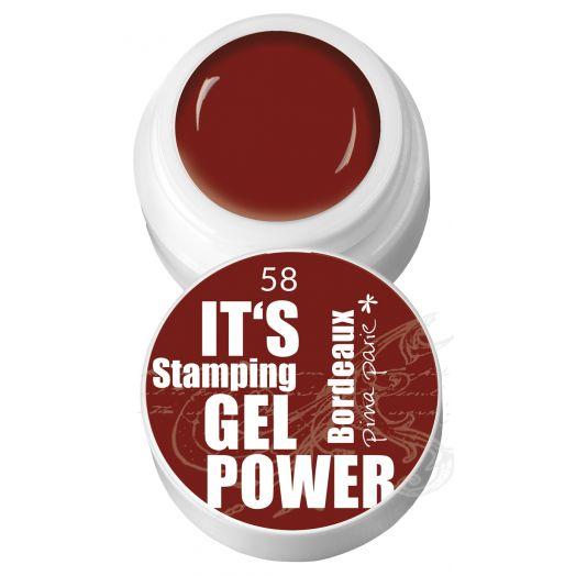 Stamping Gel 58 - Bordeaux