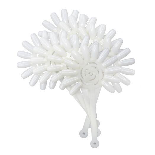 """Tip-Ring """"Blume"""" (opaque/natur)"""
